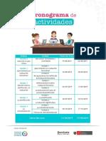 Cronograma de actividades curso evaluacion formativa