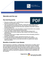 GP Factsheet - Steroids and the Eye