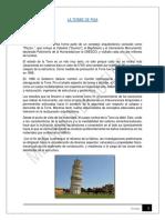 La Torre de Pisa Trabajo