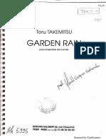 Toru Takemitsu Garden Rain