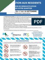 Les secteurs concernés par l'opération démoustication à Mont-de-Marsan