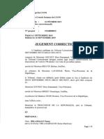 Jugement décrocheur Lyon 16 février 2019