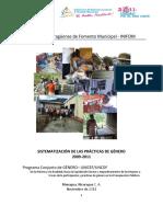 Practicas de Genero. 2009-2011. Nicaragua