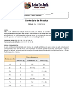Conteúdo Musica - 7º, 8º e 9º