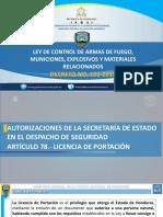 Sanciones Sobre La Ley de Control de Armas de Fuego Municiones Explosivos y Materiales Relacionados Decreto No 101 2018 25 de Abrial