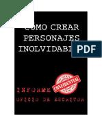 Informe digital para crear personajes