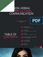 Nonverbal Intercultural Communication