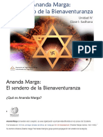 Ananda Marga IV Unidad Clase1