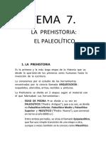 Tema 7 La Prehistoria