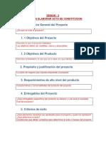 Guia Para Elaborar Acta de Constitucion INCLUYE EJEMPLO