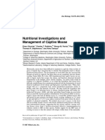 Nutritional Investigations and Management of Captive Moose