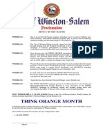 Think Orange Month - September 2019
