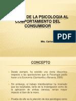 Aportes de La Ps,A La Conducta Del Consumidor Ppt
