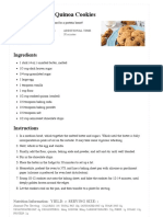 Chocolate Chip Quinoa Cookies - Dessert for Two