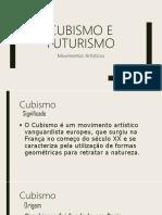 Os Mov. Cubismo e Futurismo da Vanguarda.pptx