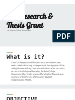 CLA Research and Thesis Grant