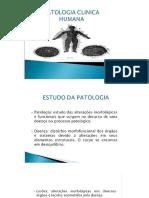 1- Patologia - Conceitos e Definições