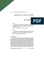 Toponimia de la comarca de Trujillo