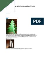 Cómo hacer un árbol de navidad en 3D con cartulina
