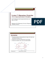 Lecture Notes-7_Dimensions, Projection