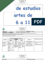 Plan de Estudios Artes Bachillerato