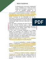 Acuerdos Entre Chavismo y Cuatro Partidos Opositores - Mesa de Diálogo Nacional