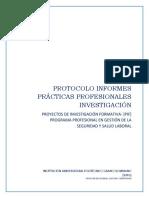 Protocolo Prácticas Profesionales en Investigación – PGSYSL-2