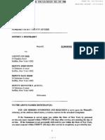 811793 2019 Jeffrey J Bernhardt v County of Erie Et Al SUMMONS COMPLAINT 1