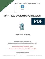 Código puntuación gimnasia rítmica 2020