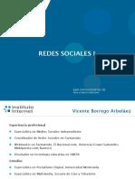 Redes Sociales i - Vicente Borrego Marzo 2019