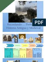 Recordando … Prehistoria, Historia Antigua y Medieval