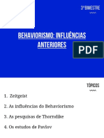 Aula 13 Behaviorismo - Precursores