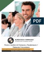 Tecnico Auxiliar Farmacia Parafarmacia Online