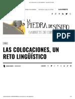 Las Colocaciones, Un Reto Lingüístico - La Piedra de Sísifo