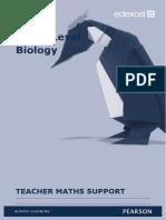 Biology Maths Teacher Guide
