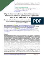El Periodismo Narrativo Español