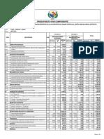 Presupuesto Cancha de Grass isla Anapia