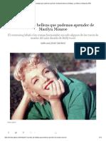 11 Secretos de Belleza Que Podemos Aprender de Marilyn Monroe _ Belleza, Lo Último _ S Moda EL PAÍS