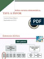 Controversia TAVI Versus Cirugia a Favor