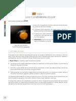 1. La Célula y La Membrana Celular