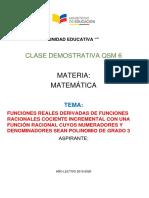 Qsm6 Mat Funciones Reales