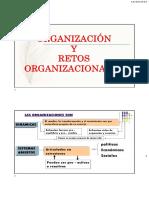 Organización y Retos Organizacionales