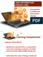 Introduction to MIL Part 2 Characteristics of Information Literate Individual and Importance of MIL1