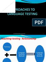 Approaches in Lang Test