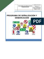 PROGRAMA DE SEÑALIZACIÓN - MODELO