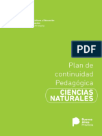 Plan de Continuidad Pedagogica Ciencias Naturales 1er y 2do Ciclo