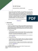 Volumen 6. La Administración Del Tiempo.