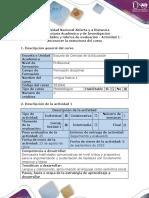 Guía y Rúbrica de Evaluación - Actividad 1 - Reconocer La Estructura Del Curso