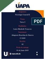 Psicología General II Tarea 3 Altagracia