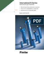 Modelo de Filtro Coalescente PARKER HSeries
